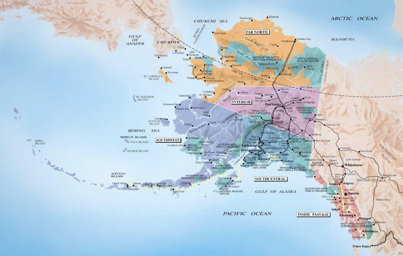 alasca mapa 2444 De ☻lho no Mapa O Alasca | ☻Mega Arquivo alasca mapa