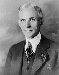 O industrial Henry Ford trouxe a linha de montagem.