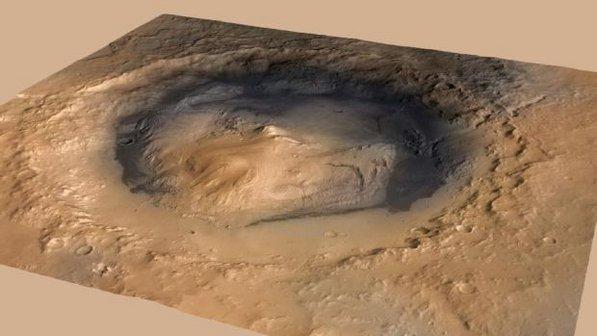 Monte Sharp em Marte
