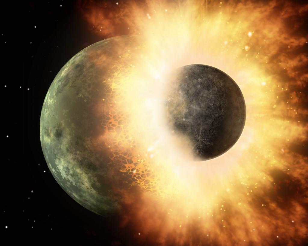 Столкновения двух экзопланет