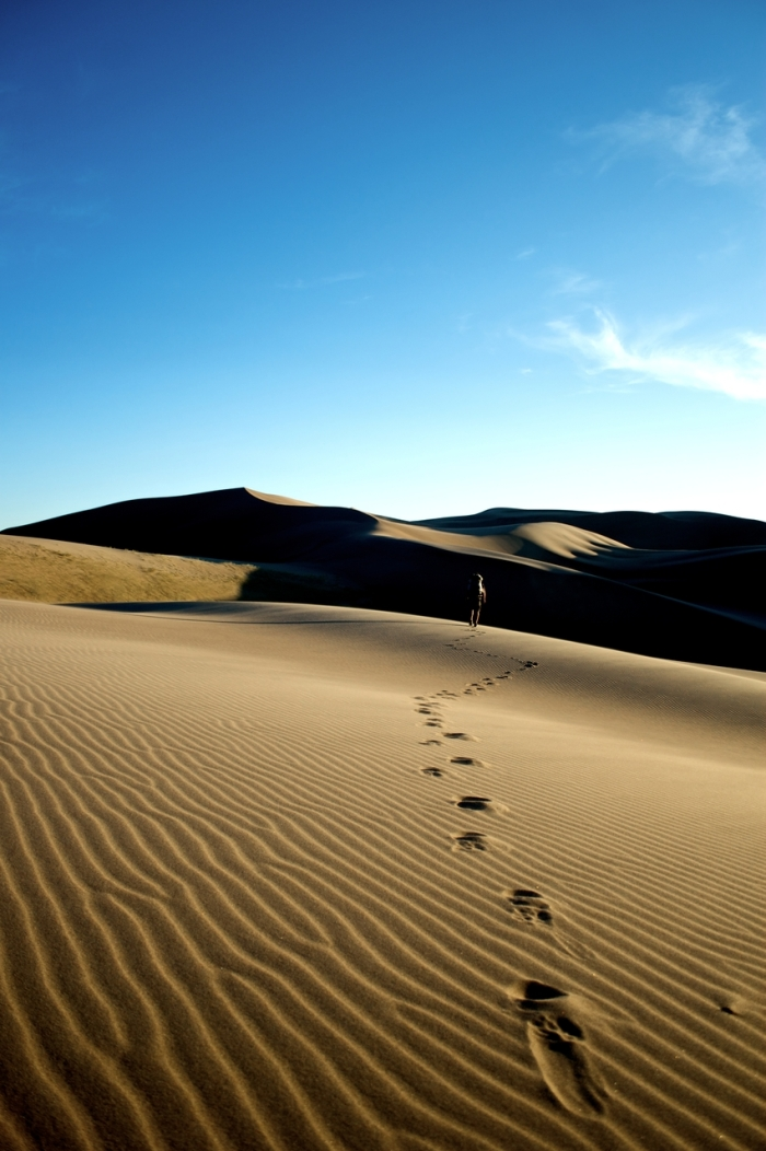 Pegadas no deserto