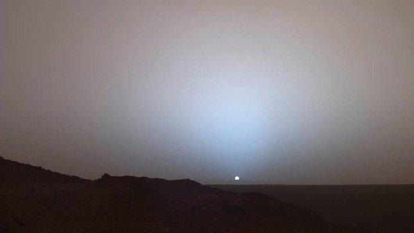 Por do Sol em Marte