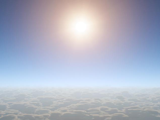 planeta com vapor