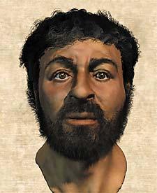Rosto de Cristo em simulação por computador