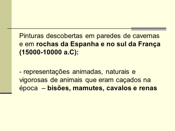 pinturas de renas e mamutes