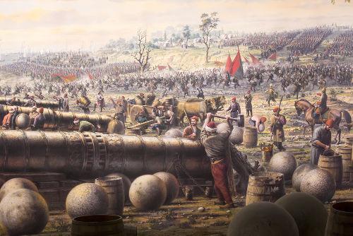 canhoes-otomanos-atirando-contra-muralha-constantinopla
